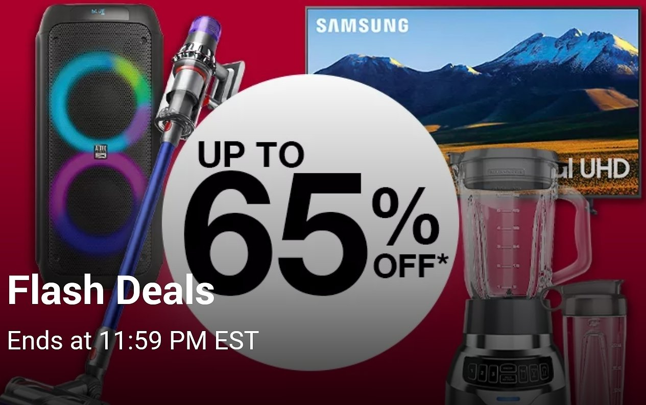Up to 65% Off Flash Deals are Back!