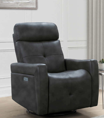 Rochester Leather Power Swivel Glider Recliner
