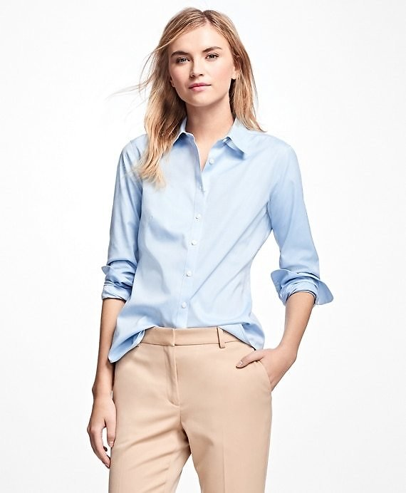 Petite Non-Iron Fitted Dress Shirt - Brooks Brothers