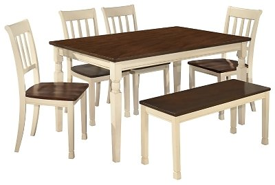 Whitesburg Dining Table and 4 Chairs and Bench | Ashley Furniture HomeStore