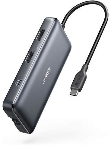 Anker USB C Hub, PowerExpand 8-in-1 USB C Adapter, with Dual 4K HDMI, 100W Power Delivery, 1 Gbps Ethernet, 2 USB 3.0 Data Ports, SD and MicroSD Card Reader, for MacBook Pro, XPS and More - Newegg.com