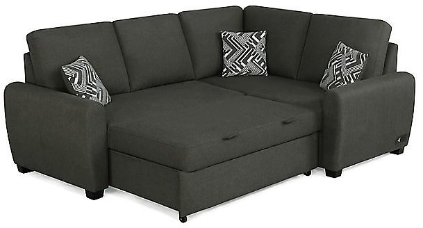 Serta® Bacradi Sectional Sleeper Sofa with Charging Station in Charcoal