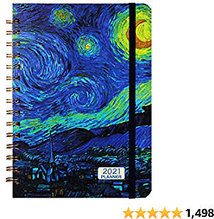 Planner 2021- Monthly Weekly Planner 2021 with Tabs, 6.4