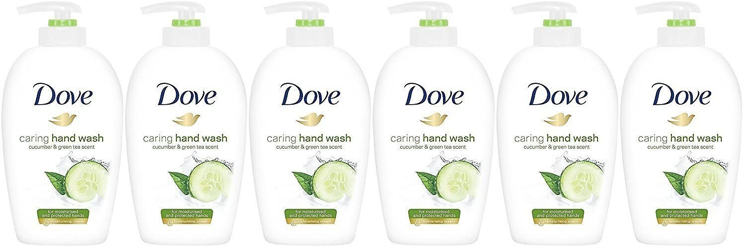 Dove Caring Hand Wash, Fresh Touch Cucumber & Green Tea, 8.45 Fl Oz (Pack of 6): Health & Personal Care