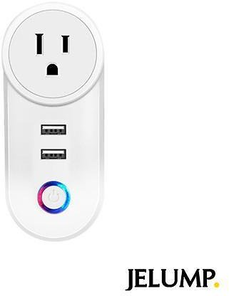 2020 New JELUMP Smart Plug Remote Control WiFi Power Strip Work with Alexa,Google, Schedule Timer Function, Visible Recognition Smart Plugs with 2 USB 2.1A Charging Port, Supports 2.4GHz Network