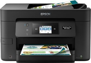 Inkjet Printers - Package Epson WorkForce Pro WF-4720 Wireless All-In-One Inkjet Printer Black and 802/802XL High-Yield Black and Standard Capacity Cyan/Magenta/Yellow Ink Cartridges Cyan/Magenta/Yellow/Black