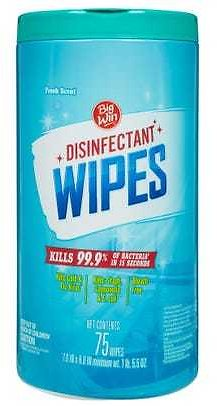 Big Win Disinfectant Wipes, Fresh Scent - 75 Ct