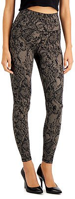 INC Snakeskin-Print Compression Leggings, Created for Macy's