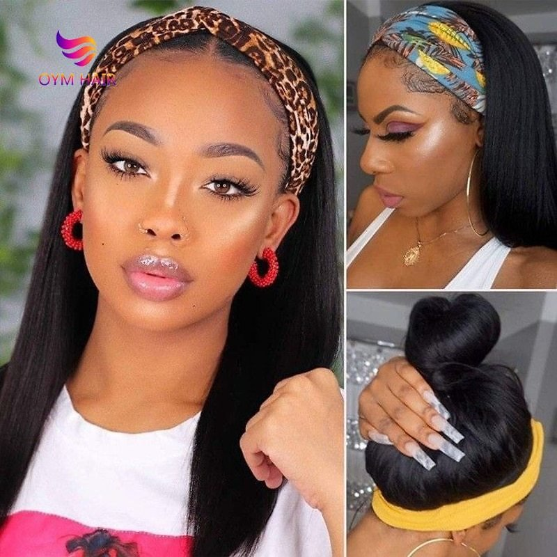 Remy Human Hair Wigs for Black Women Glueless Brazilian Hair Wigs Human Hair Wigs 30 Inch Wig 180 Density Headband Wig