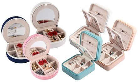Mini Portable Travel Jewelry Box & Jewelry Organizer