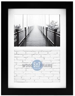 Gallery Matted Wood 2-Photo Picture Frame | Bed Bath & Beyond