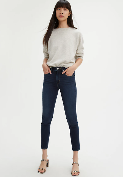 Levis 721 High Rise Ankle Skinny Womens Jeans