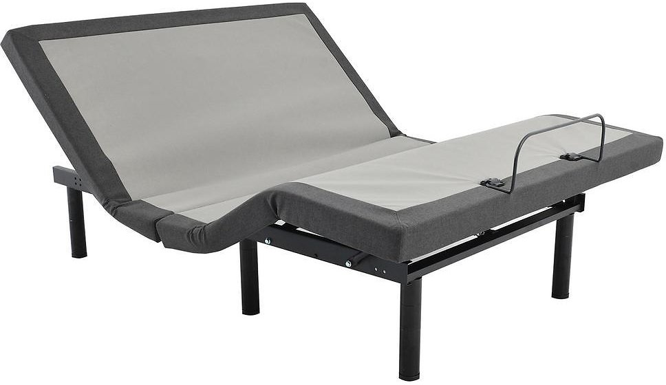 Classic Gray Adjustable Queen Bed Base with Wireless Remote Control