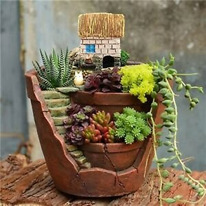 Succulent Flower Basket Planter Plant Sky Bonsai Pot Green Plants Decor UK`