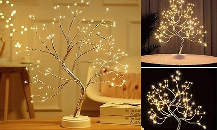 LED Artificial Twig Tree Light Tabletop Bonsai Lamp