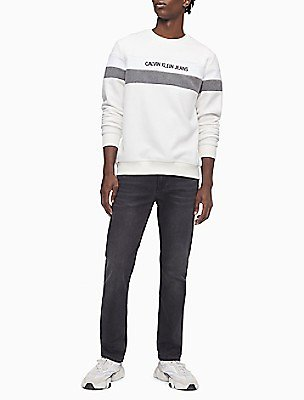 Logo Stripe Polar Fleece Sweatshirt | Calvin Klein