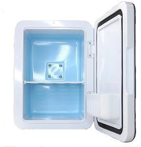 Xtrempro Xtrempro Portable 4 Liter Cooler and Warmer Compact Mini Refrigerator White Marbel w/ Eraser Board for Home Car