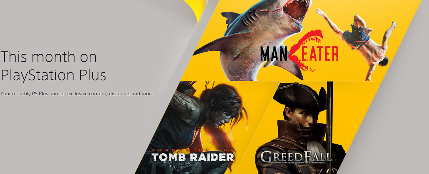 This Month On PlayStation Plus | Shadow of The Tomb Raider, Greedfall, Maneater