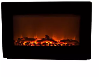 Fire Sense Black Wall Mounted Electric Fireplace - Sam's Club