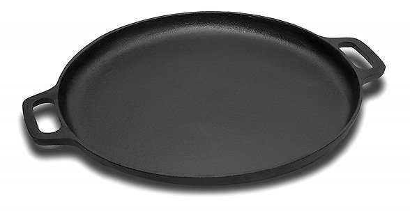 Cuisinel Pre-Seasoned Cast Iron Pizza and Baking Pan (13.5. Inch)