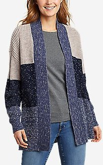 Women's Color-blocked Cardigan Sweater (2 Colors)