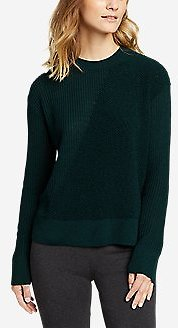 Women's Mixed-stitch Asymmetrical Pullover Sweater (4 Colors)