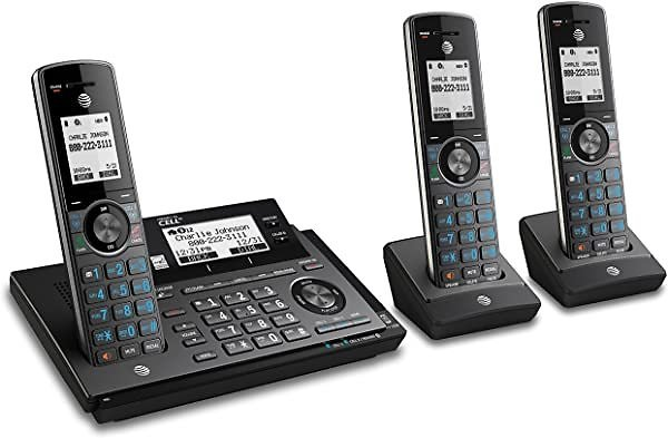 AT&T Expandable Cordless Phone with 3 Handsets