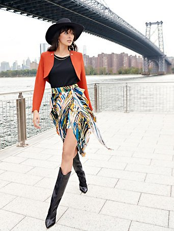 Print Tie-Waist Skirt - NYC Strong Collection