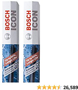 Bosch ICON Wiper Blades 22A17A (Set of 2) Fits Chevrolet: 10-05 Cobalt, Nissan: 06-03 Sentra, Pontiac: 10-07 G5, Toyota: 19 Yaris +More, Up to 40% Longer Life, Frustration Free Packaging