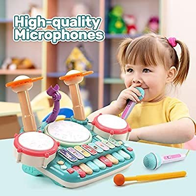 CUTE STONE 5 in 1 Musical Instruments Toys
