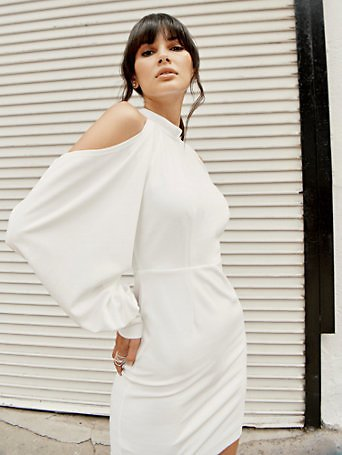 Draped Sleeve Dress - NYC Strong Collection