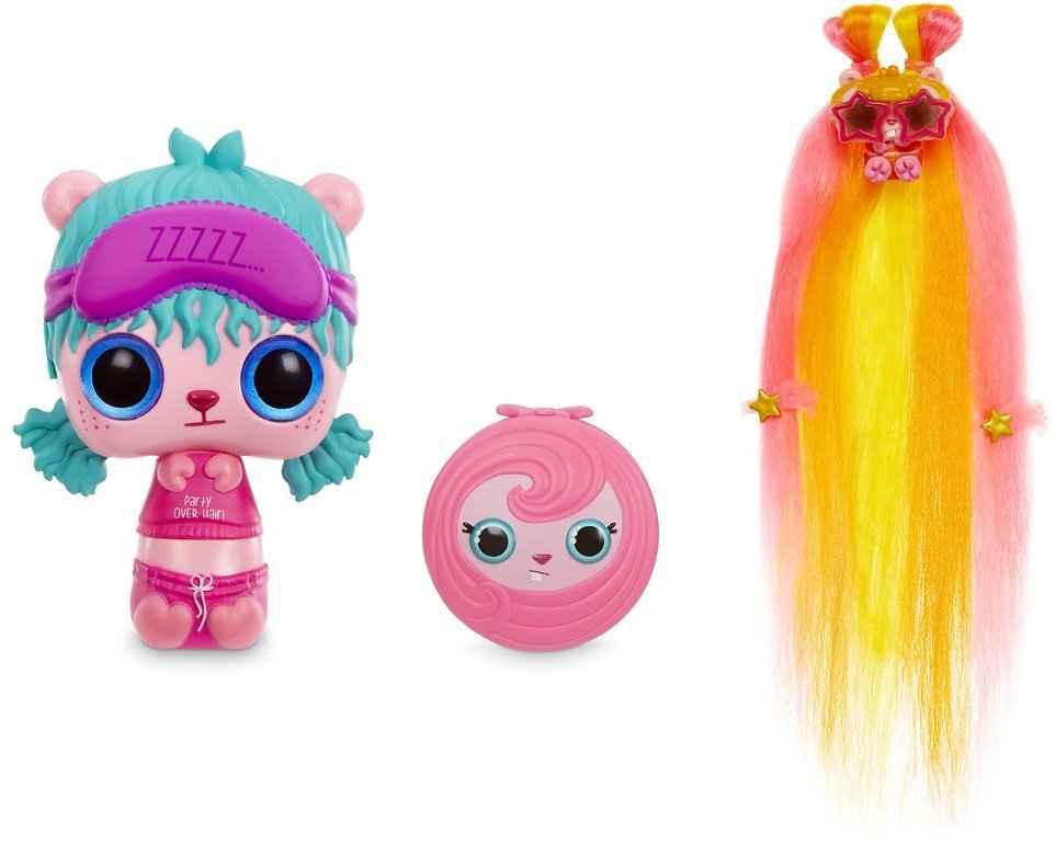 Pop Pop Hair Surprise 3-in-1 Pop Pets with Long, Brushable Hair
