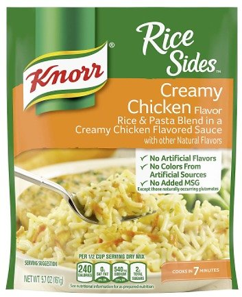 8-Pack Knorr Rice Sides Creamy Chicken