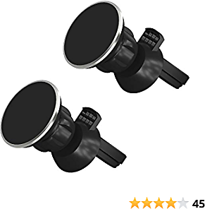 TalkWorks Air Vent Magnetic Phone Car Mount (2 Pack) 360 Rotation Cell Phone Holder Magnet - Compatible with Apple IPhone 11, 11 Pro/Max, XR, XS/Max, X, 8, 7, Android for Samsung Galaxy