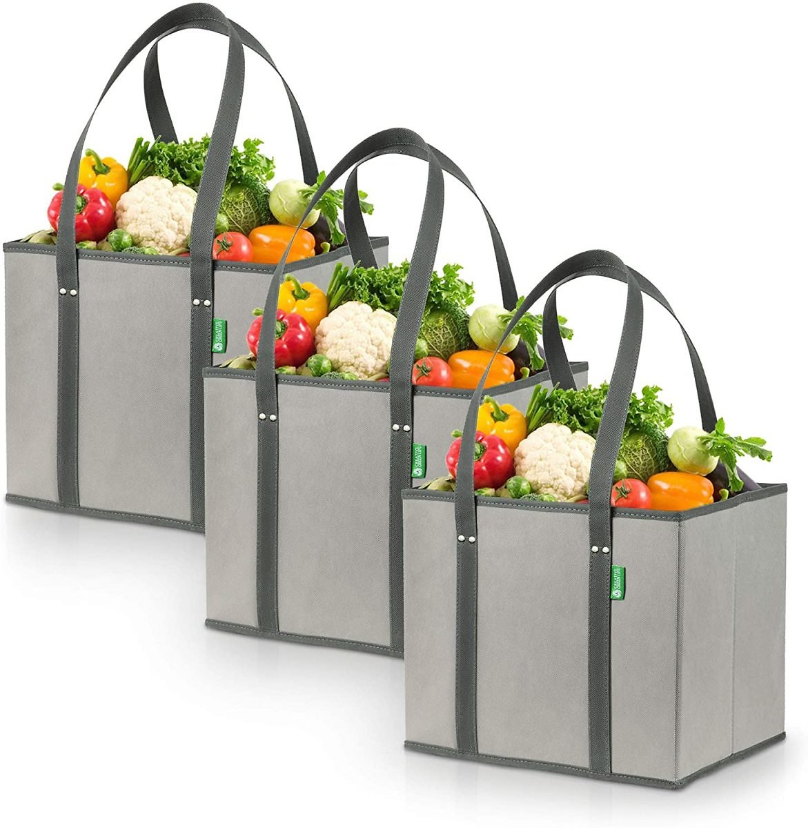 3-Pack Reusable Grocery Shopping Bags