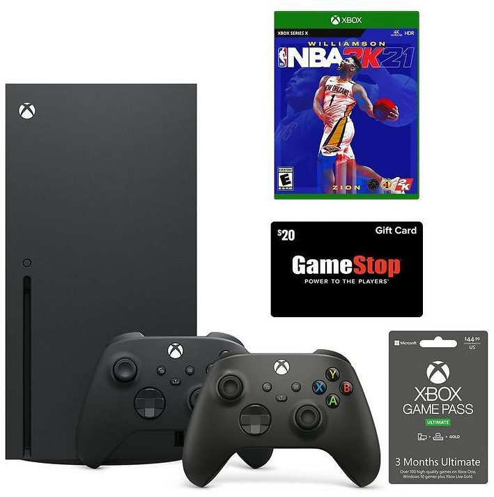 Xbox Series X NBA 2K21 and Game Pass System Bundle with $20 GameStop Gift Card