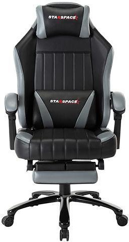 High Back Big & Tall 350lb Memory Foam Ergonomic Reclining Gaming Chair Metal Base - Adjustable Back Angle and Retractable Footrest Racing Executive Computer Desk Office Chair with Thick Padded Arms