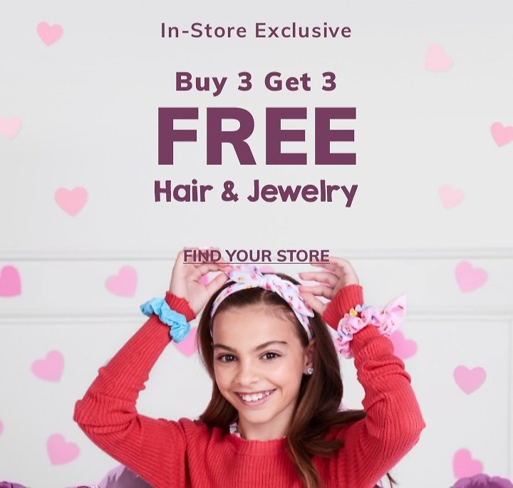 B3G3 Free Hair & Jewelry (In Store)