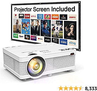 QKK Mini Projector 5500 Portable LCD Projector [100