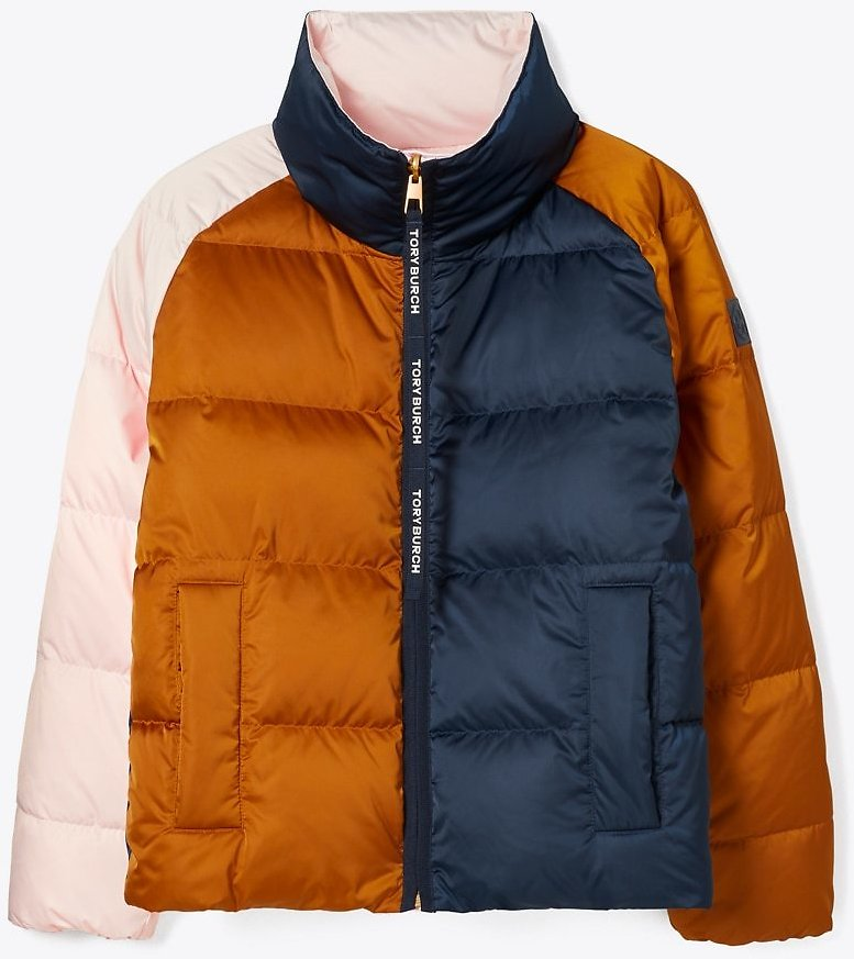 Tory Burch Reversible Color-Block Down Jacket | Tory Burch