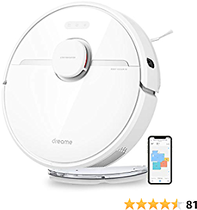 DreameTech D9 Robotic Vacuum and Mop Cleaner, Lidar Navigation Robot Vacuum Sweep and Mop 2-in-1, 3000Pa Strong Suction Power, 150min Runtime, Smart Mapping for Pet Hair, Carpet, Hard Floor