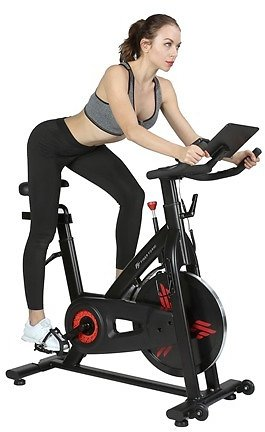 Finer Form Indoor Exercise Bike with 35lb Flywheel Belt