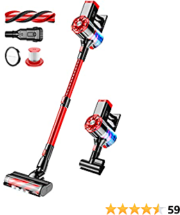 Cordless Vacuum Cleaner Lightweight Stick Handheld Wireless Vacuums Cleaner 4 in 1 Powerful Suction 21KPa Brushless Motor for Home Hard Floor Carpet Car Pet Hair OKP