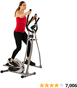 SF-E905 Elliptical Machine Cross Trainer with 8 Level Resistance and Digital Monitor, Health and Fitness