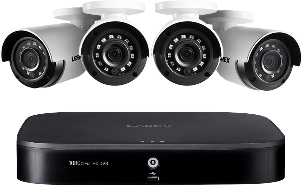 1080p HD 8-Channel Security System with Four 1080p HD Outdoor Cameras, Advanced Motion Detection and Smart Home Voice Control