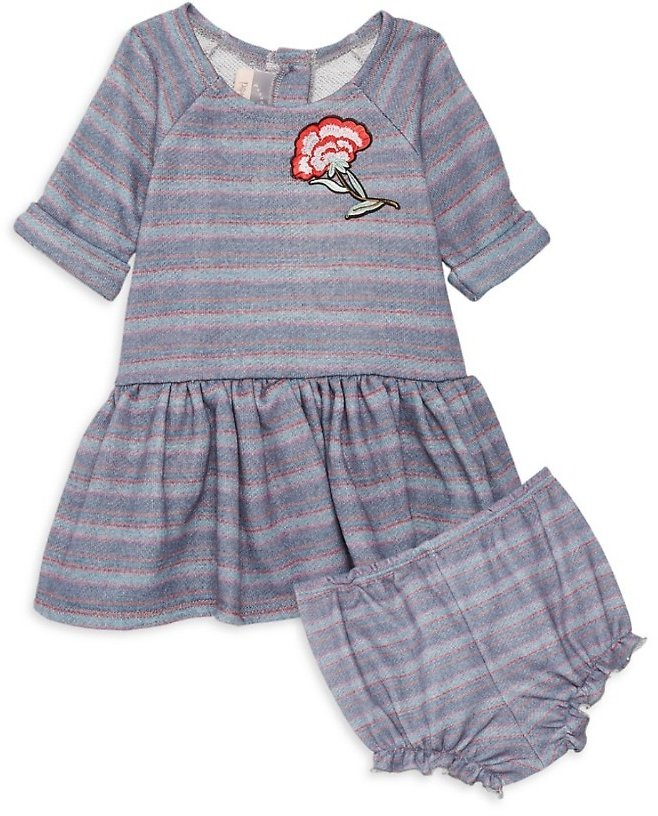 Pastourelle By Pippa & Julie Baby Girl's 2-Piece Multicolor Striped Dress & Bloomer Set