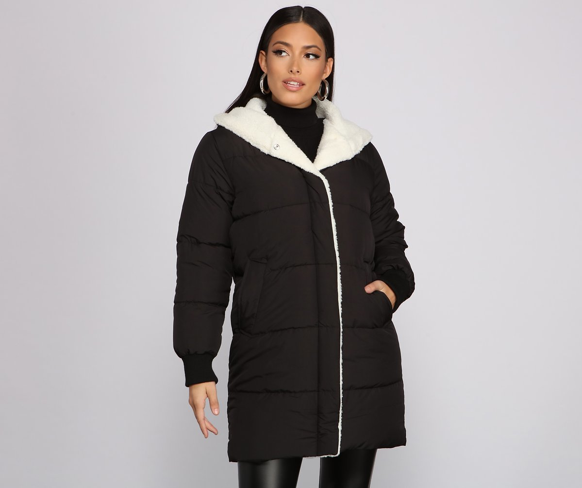 Cozy Up Long Line Puffer Jacket