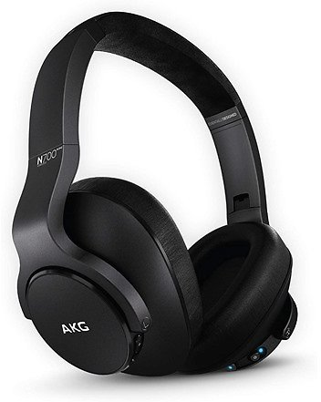 AKG (A Samsung Brand) N700NC M2, Active Noise Cancelling, Over-Ear Foldable Wireless Headphones (NEW) - Black