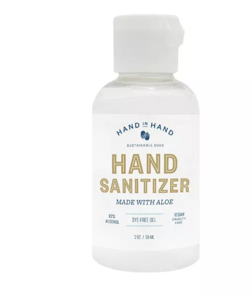 Hand in Hand Hand Sanitizer Fragrance Free - Trial Size - 2 Fl Oz