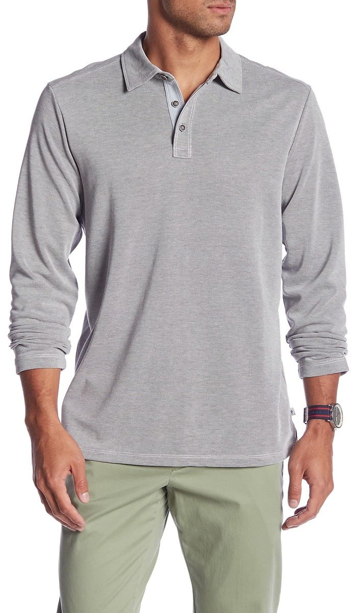 Tommy Bahama | Shoreline Surf Long Sleeve Polo | Nordstrom Rack